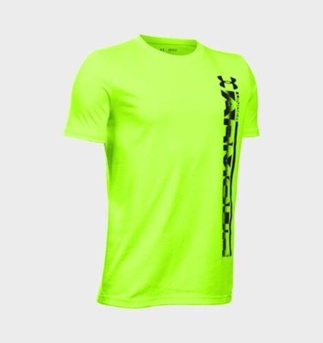 Under Armour Kid/'s UA Sideline Logo T-Shirt - Bright Green 9-10 YMD