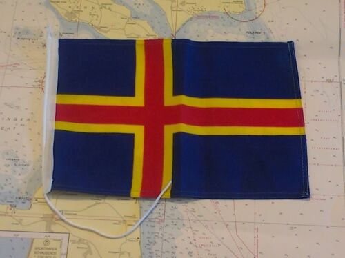 Gastlandflagge Aaland Inseln Versandkostenfrei robuster Flaggenstoff bis 30cm