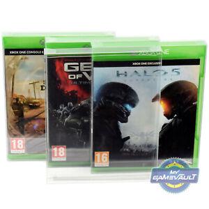 5 X Boîte Protections Pour Xbox One/jeux X 0.4 Mm Plastique Vitrine Ajustement Parfait-afficher Le Titre D'origine éLéGant En Odeur