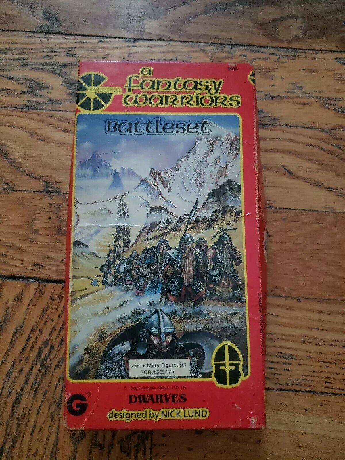 903 Nick Lund A fantasyc Warriors 25mm Metal cifras Battleset Dwarves 10 of 12
