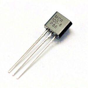 100PCS-MCR100-8-0-8A-600V-SCR-TO-92-transistor-s-NEW