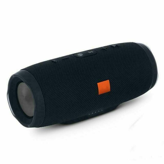 Portable Waterproof Black Bluetooth Speaker Wireless Bass USA US New CHARGE 3