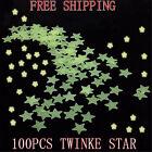 Lots 100pcs Glow In The Dark Star Stickers Baby Kids Room Nursery Wall Decal au
