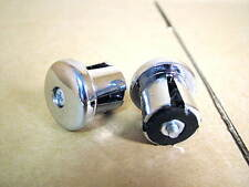 New-Old-Stock Drop Bar End Plugs - Chromed Plastic