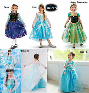 Image is loading Princess-Anna-Frozen-Disney-Elsa-Dressup-Costume-Dress-  sc 1 st  eBay & Princess Anna Frozen Disney Elsa Dressup Costume Dress Ball Gown ...