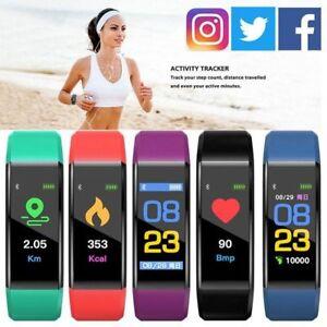 Smart Watch Bracelet Heart Rate Blood Pressure Monitor Fitness Tracker