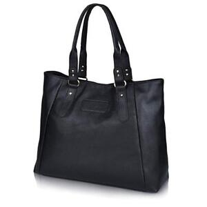 Details About Zmsnow Women S Leather Handbags Lightweight Tote Casual Work Bag 3 Black