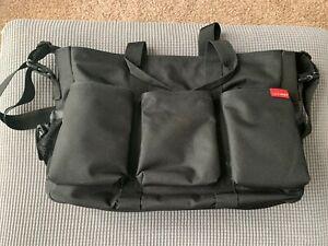 1a879545 Details about Skip Hop Duo Double Signature Large Diaper Bag Black Twins  Stroller Bag Bonus