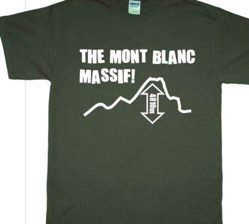 Climbing, Hill Walking, Monte Bianc, Mountain /'Mont Blanc Massif/' T-Shirt