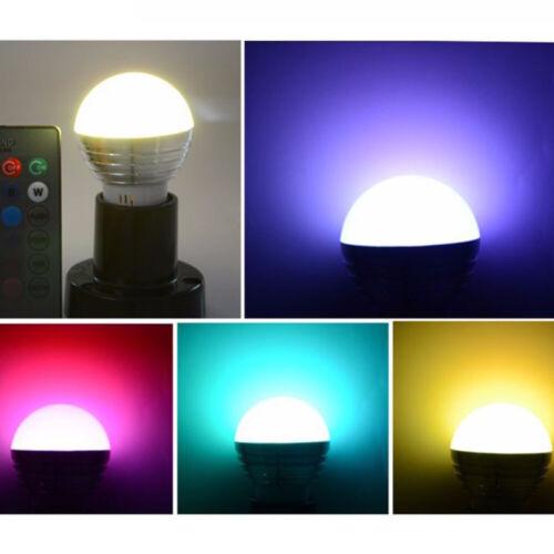 IR Remote Control E27 GU10 E14  RGB LED Light Bulb Colour Changing Globe Lamp