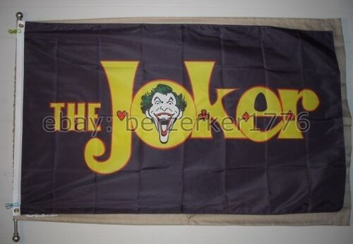 USA Shipper 1 The Joker 3/'x5/' Purple Flag Banner Batman Riddler Catwoman Robin
