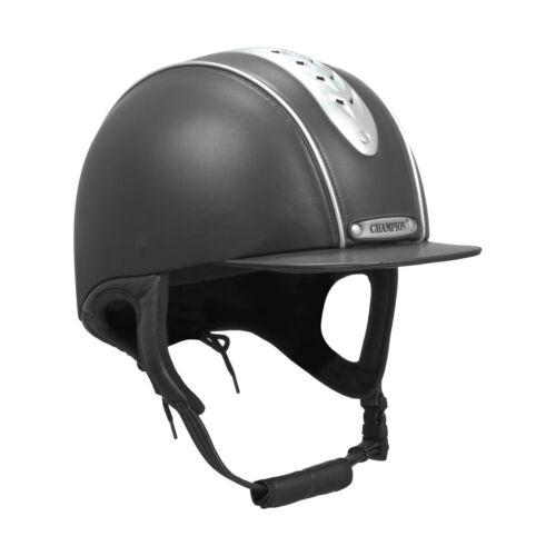 """Champion EVOLUTION PEARL Ventilated Peaked Riding Hat Black//Navy 6 1//4/""""-7 3//4/"""""""