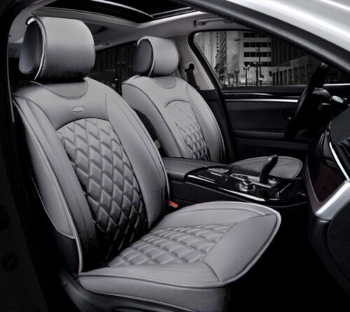 Deluxe Grey PU Leather Look Seat Covers Padded For Ford Focus Fiesta Kuga C-Max