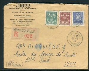 Monaco - Enveloppe En Recommandé Pour Lyon En 1944 - Réf M101 100% De MatéRiaux De Haute Qualité
