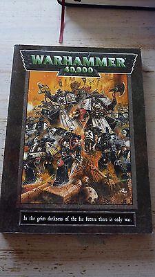 Analitico Warhammer 40k Space Marine Regola Libro Intorno Al 1998 Softback Fuori Catalogo Raro Vintage-mostra Il Titolo Originale
