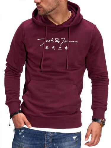 Jack /& Jones Herren Hoodie Kapuzenpullover Sweatshirt Print Hoody Sweater SALE /%