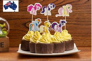 12-x-My-Little-Pony-CUPCAKE-CAKE-TOPPERS-Party-decoration-children-birthday