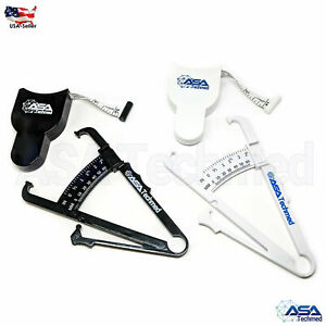 1 Body Fat Caliper & 1 Mass Measuring Tape Tester Skinfold Fitness Weight Loss