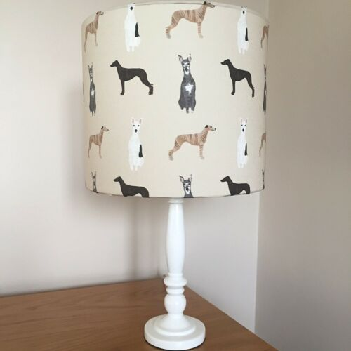 Whippet Dog Print Fabric Lamp