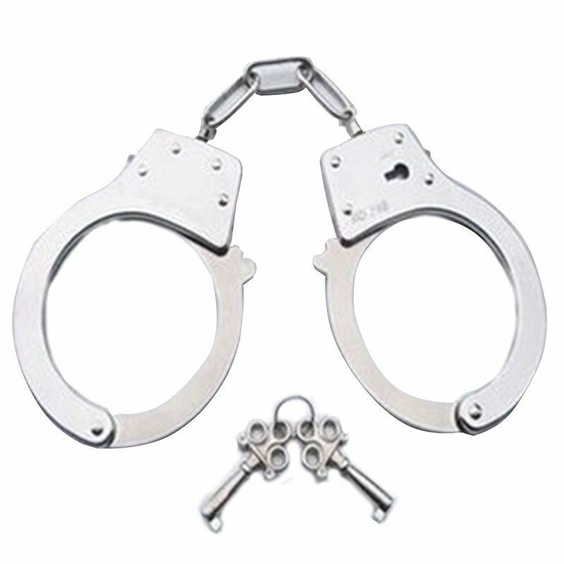 Handcuffs Metal w//Keys Kids Police Swat Role Play Game Toy Party CosplayTricks