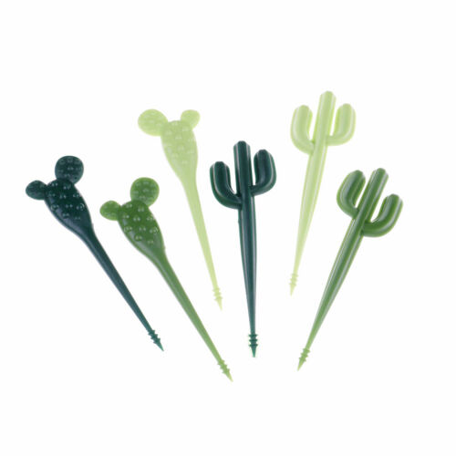 6pcs//pack Cactus Fruit Forks Dessert Forks Toothpick Kids Tableware Food PickPDH