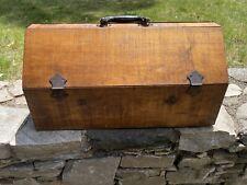 Carpenters Slanted Lid Wood Tool Box Chest Stunning Vintage