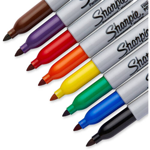 Silver Blue Gold Green Sharpie Permanent Markers Fine Point Black Red