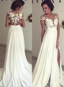 Image Is Loading Chiffon Lace Bohemian Wedding Dresses Boho Beach