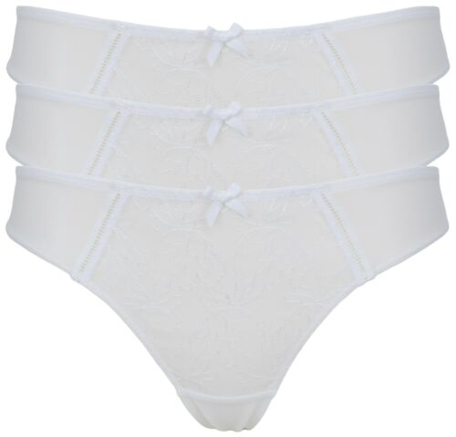 Ex Store Semi Sheer Embroidered Thong