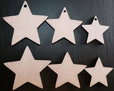 laser cut wooden star shapes wedding xmas Embellishments Craft 40,50,60,80,100mm