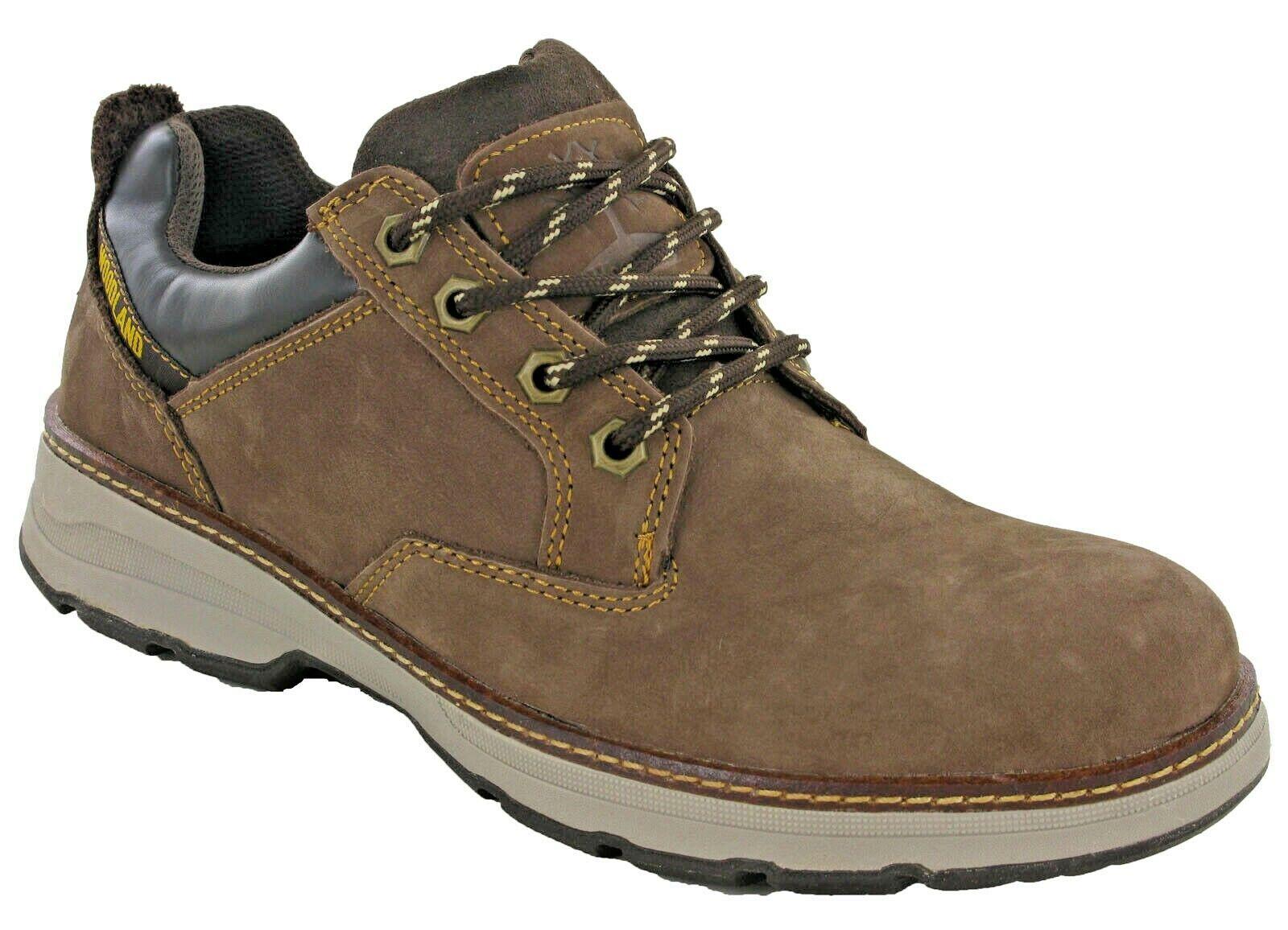 Woodland Mens Casual Leather Nubuck schuhe Work Soft Toe Padded Ankle Lace UK6-12