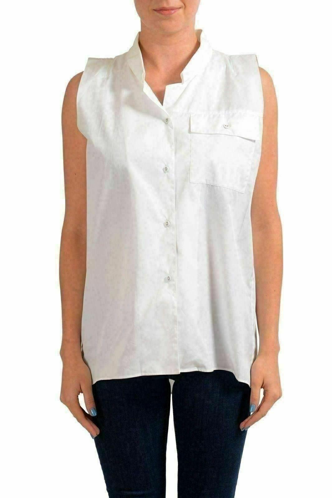 Maison Margiela Weiß Sleeveless Woherren Button Down Shirt US M IT 42