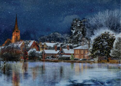 Marlow Buckinghamshire Helen /& Douglas house local Cartes de Noël de Noël