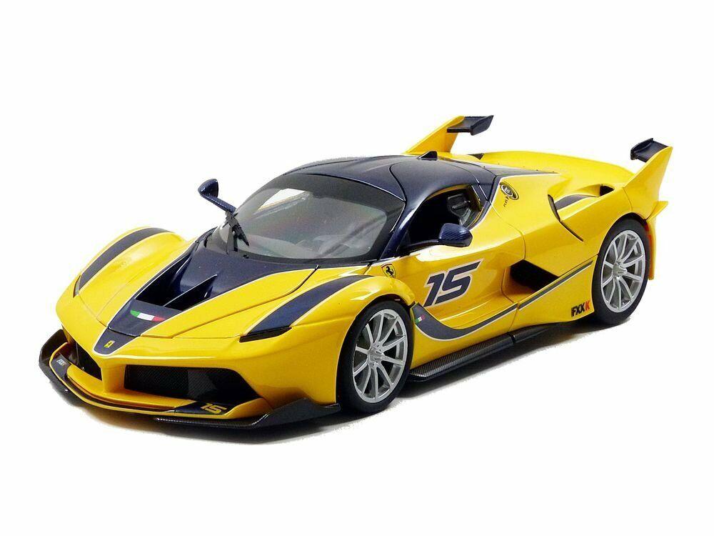 Bburago 16010Y Race & Play Ferrari FXX-K  15 gelb 1 18 NEU OVP
