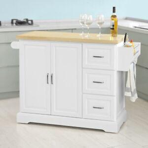 SoBuy Carrello cucina,Credenza,Piano in legno di Hevea è allungabile ...