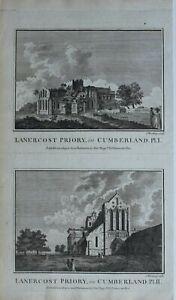 c1786-ANTIQUE-PRINT-LANERCOST-PRIORY-CUMBERLAND