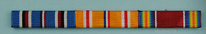 3-Ribbon-Bar-Asia-Pacific-Theater-World-War-Two-WWII-clutch-back-WW2