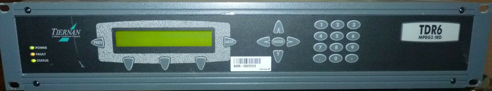 Tiernan TDR6 High Performance Modular Receiver  Decoder MPEG-2 IRD