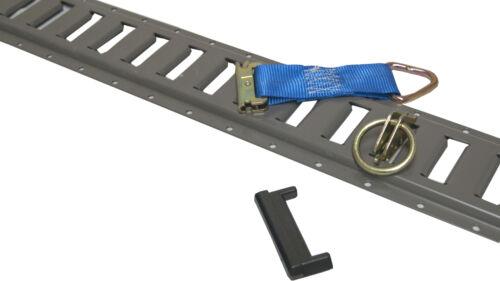32pc Gray E Track Kit Enclosed Trailer Tie Down Cargo Van ATV UTV Toy Hauler