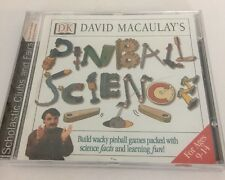DK David Macaulay's Pinball Science Games CD Rom Game Software Scholastic Clubs