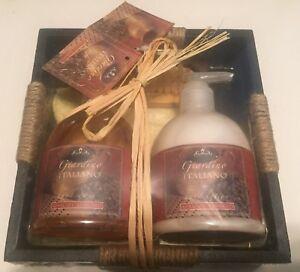 Giardino-Italiano-Apricot-Almond-Hand-Wash-amp-Lotion-set-each-300-mL-towel-brush