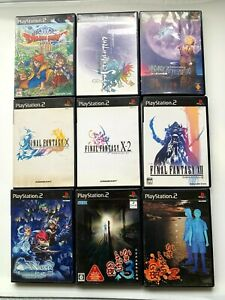 Wholesale-Lot-9PLAYSTASION2-RPG-SET-Final-Fantasy-DQ-from-JAPAN-PS2-JP-NTSC-J