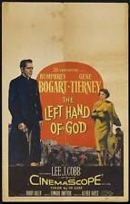 THE LEFT HAND OF GOD Movie POSTER 14x22 Window Card Humphrey Bogart E.G.