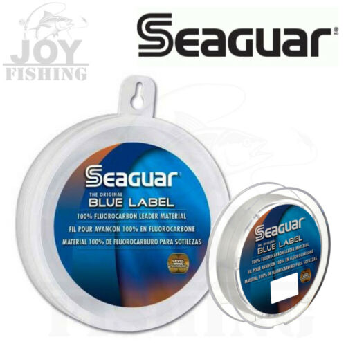 Seaguar Blue Label Fluorocarbon Leader Clear Fishing Line 25 Yard Select LB Test