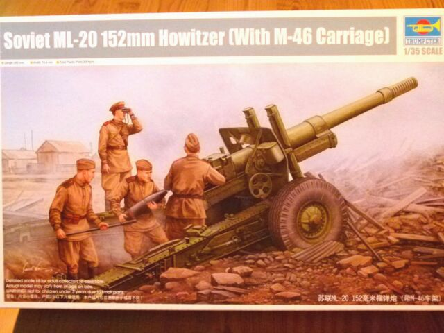 Trumpeter 1:35 ML-20 152mm Soviet Howitzer with M-46 Carriage Model Kit