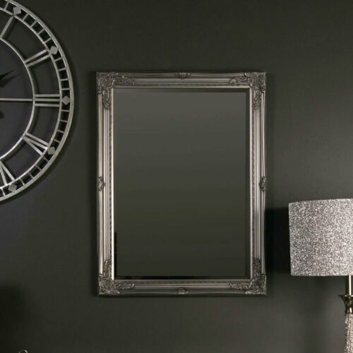 Ornate Vintage silver Mural Miroir français Shabby Chic Salon Couloir