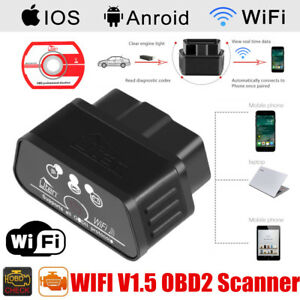 Details about WiFi OBD2 ELM327 Bluetooth Car Scanner Android iOS IPhone  Torque Auto Scan Tool