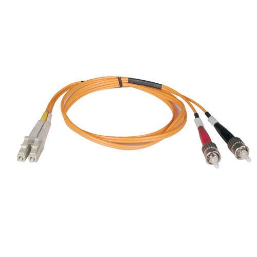 Tripp Lite 6FT Duplex Multimode LC to ST 50/125 Fiber Optic Patch Cable - Orange
