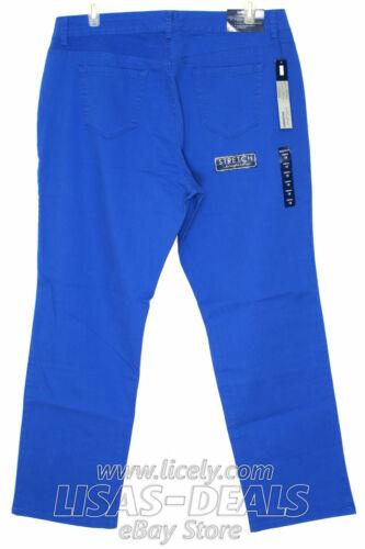New Womens Bandolino Jeans Stretch Denim Samantha Pants Green Blue 18