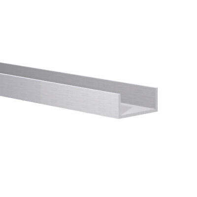 """1-1//8/"""" W x 13//16/"""" H x 1//16/"""" Wall Aluminum Channel: Fit 1/"""" Clear Anodized 3 Foot"""